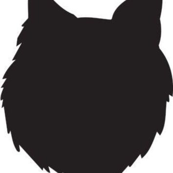 Swedish Lapphund Silhouette Dog Puppy Breed Long Die Cut Vinyl Transfer Decal Sticker
