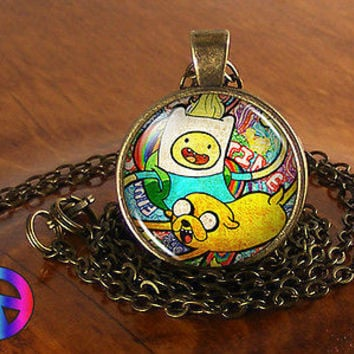 Adventure Time Finn & Jake Cartoon Fashion Necklace Pendant Jewelry Charm Gift