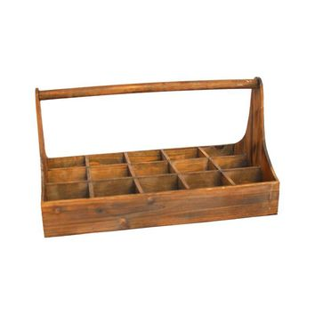 Pre-owned Vintage Wood Bottle Caddy