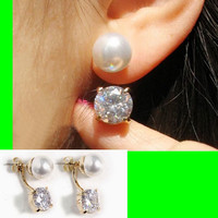 Pearl and Rhinestone Wrapping Ear Cuffs