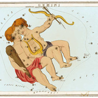 Gemini Astrological Sign Zodiac Art Astronomy Constellation 8 1/2 x 11 Color Glossy Print