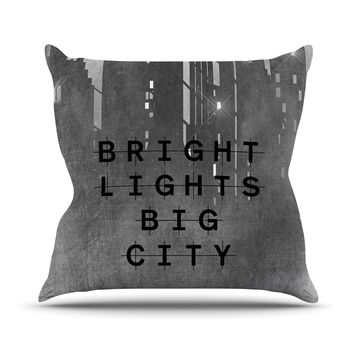 "Alison Coxon ""Bright Lights"" Dark City Throw Pillow"