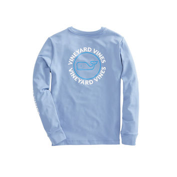 Boys Long-Sleeve Performance Whale Dot T-Shirt