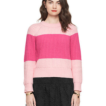 Kate Spade Chunky Cotton Sweater Pastry Pink