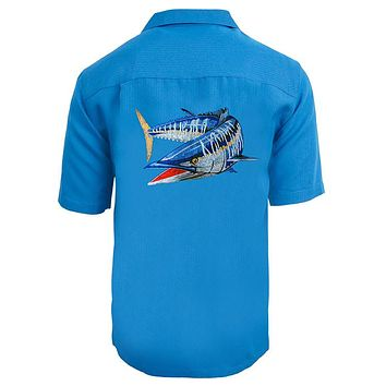 Men's Wahoo Embroidered Fishing Shirt