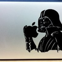 Star Wars Darth Vader With Apple In Hand - Vinyl Macbook / Laptop Decal Sticker Graphic