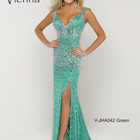 Sweetheart With Cap Sleeve Beaded Formal Prom Dress Vienna JHA042
