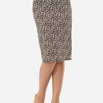 Streetstyle  Casual Leopard Printed Zips Sexy Midi-skirt