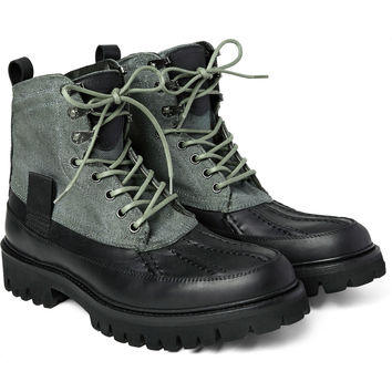 Rag & bone - Spencer Canvas and Leather Duck Boots | MR PORTER