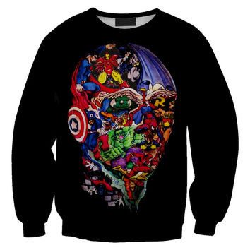 Womens Mens 3D Print Realistic Space Galaxy Animals Hoodie Sweatshirt Top Jumper Sws-0151
