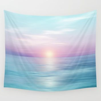 Calm sunset Wall Tapestry by vivianagonzalez
