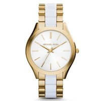 Slim Runway Gold-Tone Acetate Watch | Michael Kors