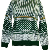Patterned Jacquard Sweater