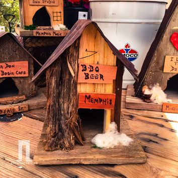 BBQ and Memphis Rustic Juke Joint Birdhouse