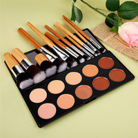 Professional Makeup Set 10 Colors Makeup Concealer Palette +11pcs Makeup Foundation Brush Eyeshadow Brushes Cosmetics Kits