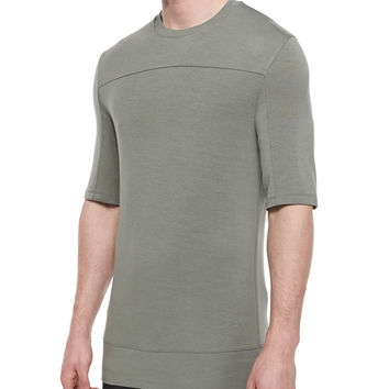 Baby Terry Crewneck Tee, Gray, Size: MEDIUM, GRAY - Helmut Lang