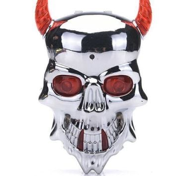 Cycling Safety Bicycle Rear Lamp Double LED Skull Crossbones 7 Modles Laser Tail Warning Flashing Seatpost Light