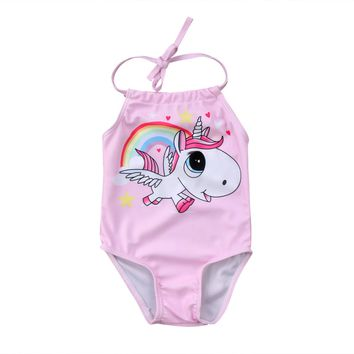 DD Unicorn Swimsuit Newborn to 24 mos.