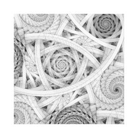 GET LOST - Black and White Spiral