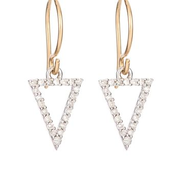Adina Reyter Pave Diamond Open Triangle Earrings