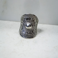 Aztec Sunset Ring in Silver