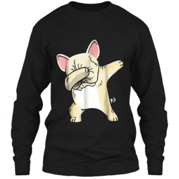 Frenchie Dabbing  French Bulldog Kids Clothes LS Ultra Cotton Tshirt