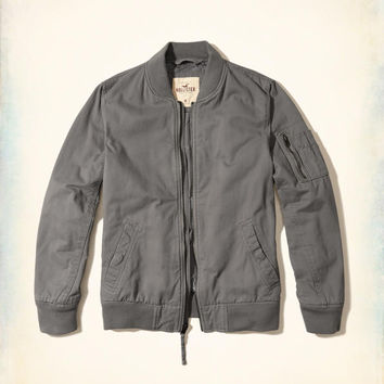 Guys Twill Bomber Jacket | Guys New Arrivals | HollisterCo.com