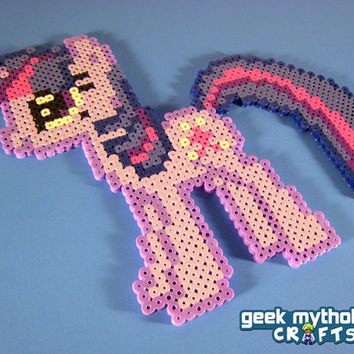Twilight Sparkle My Little Pony Friendship is Magic - Perler Bead Sprite Pixel Art Decoration