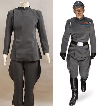 Star Wars Imperial Officer Grey Costume Uniform Whole Set Cosplay Costume For Halloween Party Male Top And Pants