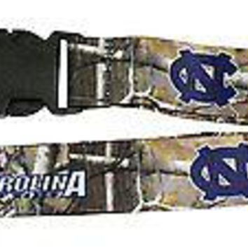 North Carolina Tar Heels CAMO REALTREE 2-sided Premium Lanyard University of