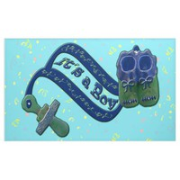 It's a Boy Pacifier Shoes Banner