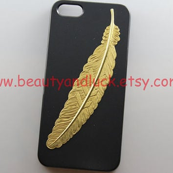 iphone 5 case, Golden angel feather Hard Case for iPhone 5 Case, iphone 5 hard case A