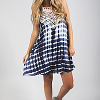 crochet all day tie dye dress