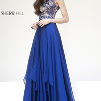 Floor Length High Neck Sherri Hill Dress