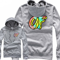Odd Future Awesome Donut Grey Hoodie
