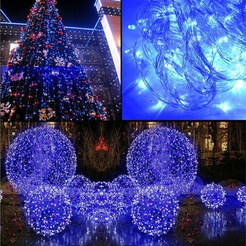 10m 100L String Fairy Lights Lighting Wedding Garden Party Evening Club Decor 220V Blue W_C [7978670855]