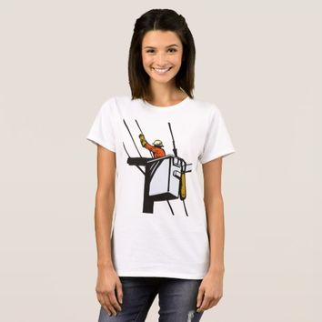 Power Lineman Electrician Electric Worker T-Shirt