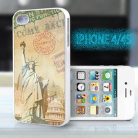 unique iphone case,glitter i phone 4 4s case,cool cute iphone4 iphone4s case,stylish  plastic rubber cases, Statue of Liberty, bp911