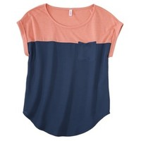 Xhilaration® Junior's Knit to Woven Tee - Assorted Colors
