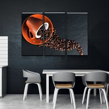 Coffee Kitchen and Dining Room Wall Decor Canvas Set