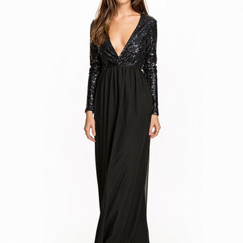Wrap Sequin Gown, NLY Eve