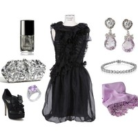 Lavender Cocktail Dress Outfit (New Years) - Polyvore