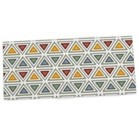 """Amazon.com : KESS InHouse Julia Grifol """"Ikat Triangles"""" Multicolor Office Desk Mat, Blotter, Pad, Mousepad, 13 by 22-Inches : Office Products"""