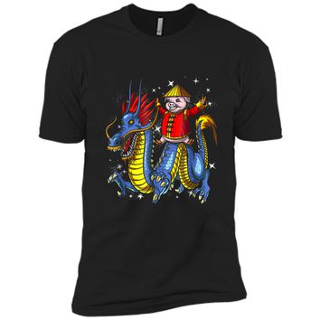 Chinese New Year 2019 Pig Riding Dragon Gift Next Level Premium Short Sleeve Tee