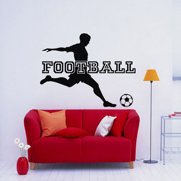 Football Wall Decal Sports Vinyl Wall Decals Soccer Player Gift Sports  Stickers Nursery Boys Room Teen Part 63