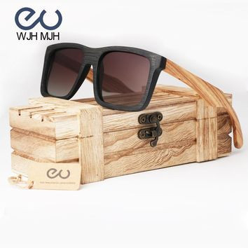 Wood Sunglasses Women 2017 Brand Mirror Original Polarized Bamboo Sun Glasses For Women Oculos Eyewear Sunglasses for Friends