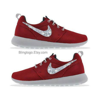 Bling Nike Shoes -Nike Roshe Run With Swarovski Crysral Rhinestones - Bling Nikes, Bling Shoes, Blinged Out Nikes