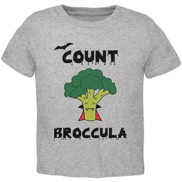 LMFON Halloween Vegetable Broccoli Count Broccula Dracula Funny Toddler T Shirt