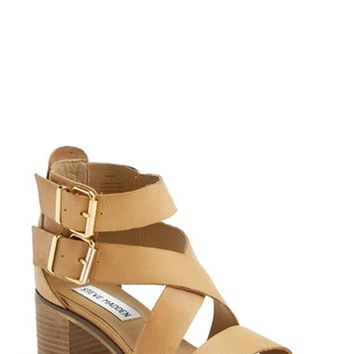 "Women's Steve Madden 'Rosana' Double Ankle Strap Leather Sandal, 2"" heel"