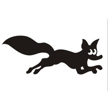 Fox Funny Animal Car Vinyl Sticker Decal Truck Bumper Laptop Removable Gift FAC Boat Motorbike AUTO Wall Graphic New Decor Style